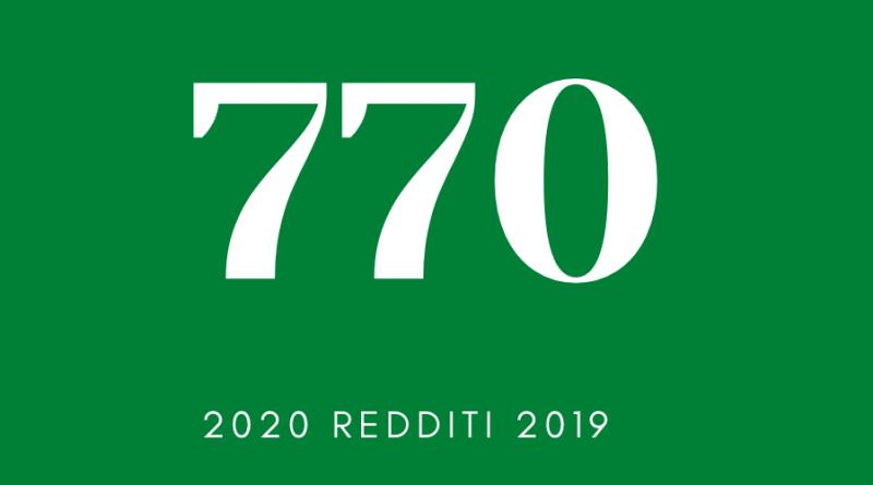Modello 770/2020 - Redigo.info