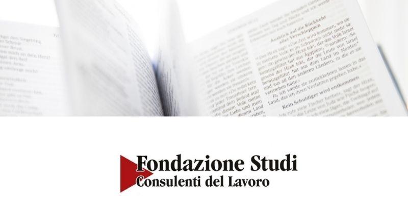 Fondazione Studi Consulenti del Lavoro – Approfondimento 23.09.2021